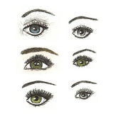 Hand Drawn Artistic Eye Illustration Stock Images