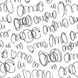 Hand drawn artistic seamless pattern with abstract simply elements. Doodle ink background for textile and wrapping paper Royalty Free Stock Image