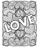 Hand drawn artistically ethnic ornamental Hand drawn St. Valenti Royalty Free Stock Photo