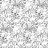Hand drawn Asia seamless pattern Stock Images