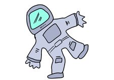 Hand drawn astronaut Royalty Free Stock Images