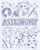 Hand drawn Astronomy set Royalty Free Stock Photo