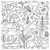 Hand drawn Australia set Royalty Free Stock Image