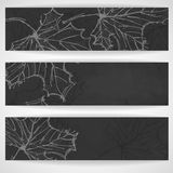 Hand Drawn Autumn Background Royalty Free Stock Photography