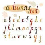 Hand-drawn autumn font Stock Photos