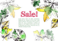 Hand drawn autumn leaves Stock Images
