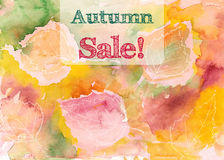 Hand drawn autumn leaves Royalty Free Stock Photos