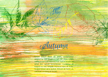 Hand drawn autumn leaves Royalty Free Stock Photo