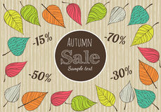 Hand-drawn Autumn Sale Background. Royalty Free Stock Photos