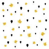 Hand drawn autumn seamless pattern design. Trendy luxury painted Royalty Free Stock Images