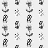 Hand drawn autumnal leaves seamless pattern in gray colors. Autumnal leaves simle seamless pattern Stock Images