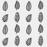 Hand drawn autumnal leaves seamless pattern in gray colors. Autumnal leaves simle seamless pattern royalty free illustration