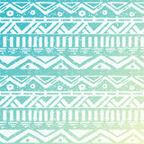 Hand Drawn Aztec Tribal Seamless Background Stock Photos