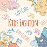 Hand-drawn baby shop discounts Royalty Free Stock Images