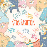 Hand-drawn baby shop discounts Royalty Free Stock Photo