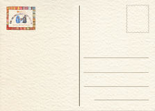 Hand drawn back postcard Royalty Free Stock Photo