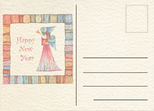 Hand drawn back postcard Stock Images