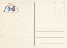 Hand drawn back postcard Stock Photo