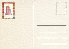 Hand drawn back postcard Royalty Free Stock Photos