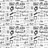 Hand drawn back to school doodle vector pattern Royalty Free Stock Images