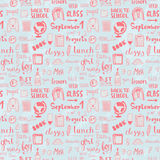 Hand drawn back to school doodle vector pattern Stock Photos