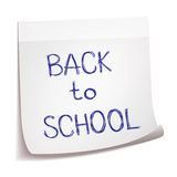 Hand drawn Back to School sketch on sticks note paper Stock Photos