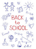 Hand drawn Back to School sketch. Vector-Illustration Royalty Free Stock Images