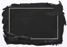 Hand drawn background in black. With white frame vector illustration