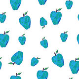 Hand-drawn background with blue apples Royalty Free Stock Photo