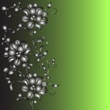 Hand drawn background with a fantasy flower Stock Images