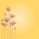 Hand drawn background with a fantasy flower Royalty Free Stock Photos