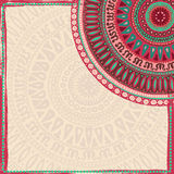 Hand drawn  background in indian style Royalty Free Stock Photos