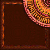 Hand drawn  background in indian style Royalty Free Stock Images