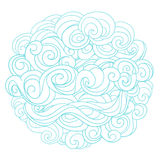 Hand drawn background with linear twirl pattern Stock Photography