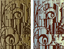 Hand-drawn background texture. Abstract cityscape Royalty Free Stock Image