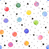 Hand drawn background. Watercolor texture in bright colors. Hand drawn seamless abstract background for print on fabric or wrapping paper. Watercolor spots with Stock Photo