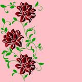 Hand Drawn Background With A Fantasy Flower Stock Image