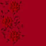 Hand Drawn Background With A Fantasy Flower Royalty Free Stock Image