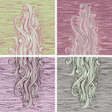 Hand drawn backgrounds Royalty Free Stock Images