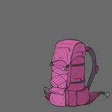 Hand-drawn   backpack Royalty Free Stock Images