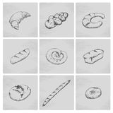 Hand drawn bakery icon Stock Photo