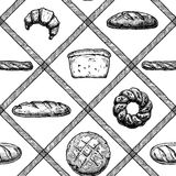 Hand drawn Bakery products Stock Image