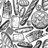 Hand drawn Bakery products Stock Photos