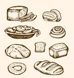 Hand drawn bakery Royalty Free Stock Images
