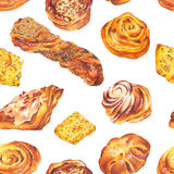 Hand drawn baking seamless background Royalty Free Stock Images