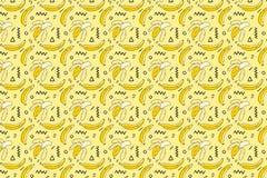 Hand Drawn Banana pattern Royalty Free Stock Photography