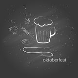 Hand-drawn banner for Octoberfest. Hand-drawn banner for Octoberfest on dark background Stock Photos