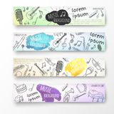 Hand drawn banner template. Royalty Free Stock Photos