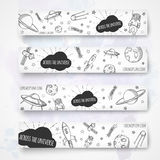 Hand drawn banner template. Royalty Free Stock Photography