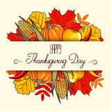 Hand drawn banner Thanksgiving Day Royalty Free Stock Images
